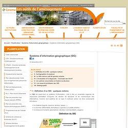 Système d'information géographique (SIG) - Outil de l'aménagement