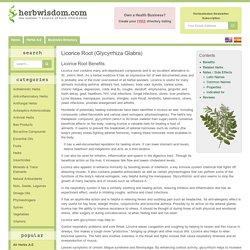 Licorice Root Benefits & Information (Glycyrrhiza Glabra)