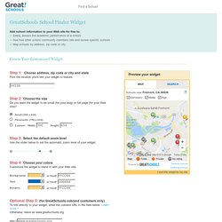 School Finder - Customize Your Free School Information Widget - GreatSchools