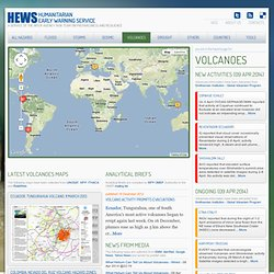 Volcanoes information monitoring page on HEWS