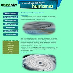 Information on Hurricanes and Tropical Storms for young people