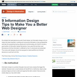 9 Information Design Tips to Make You a Better Web Designer