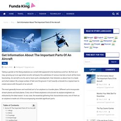 Get Information About The Important Parts Of An Aircraft