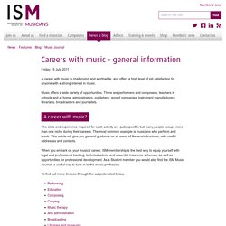 Careers with music - general information