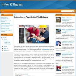 Information is Power in the HVAC Industry