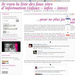 Je voeu la liste des faux sites d'information (infaux - infox - intox) - AllWeWish