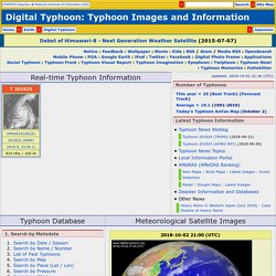 Digital Typhoon: Typhoon Images and Information - National Institute of Informatics