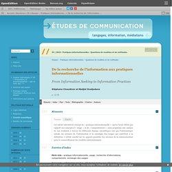 De la recherche de l'information aux pratiques informationnelles