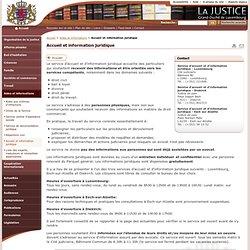 Accueil et information juridique - La Justice // Luxembourg - Aides et informations