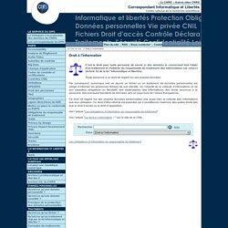 Droit à l'information - Fil d'actualité du Service Informatique et libertés du CNRS