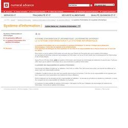 Chapitre 5 - Le système d'information et le système informatique