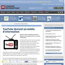 YouTube devient un média d'information