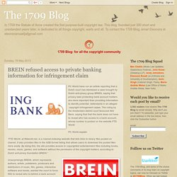 BREIN refused access ti private banking information in infringement claim