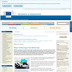 EUROPE - Programme de recherche 2009-2013 - Maps: Colouring in the Black Sea