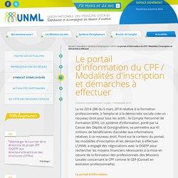 Le portail d'information du CPF / Modalités d'inscription et démarches à effectuer