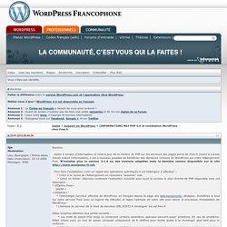 [INFORMATION] MAJ PHP 5.6 et installation WordPress chez Free.fr