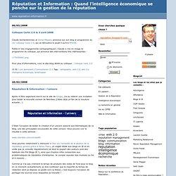 web 2.0 : Réputation et Information : Quand l'intelligence écono