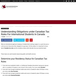 Important Information: Canadian Tax Rules For International Students
