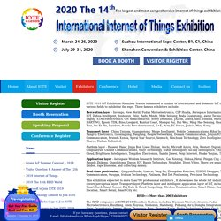 Download the exhibition information - 2020(13th) China International Internet of Things Exhibition