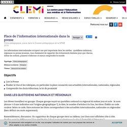 Place de l'information internationale dans la presse- CLEMI