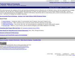 Finding Information on the Internet: Table of Contents
