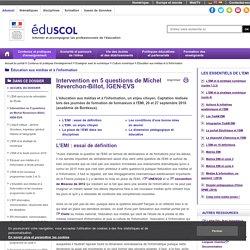 Éducation aux médias et à l'information - Intervention en 5 questions de Michel Reverchon-Billot, IGEN-EVS