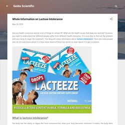 Whole Information on Lactose Intolerance