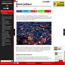 About Jodhpur, Information about Jodhpur, Jodhpur Introduction