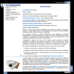 Rechercher l'information - Introduction