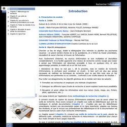 Rechercher l'information - Introduction
