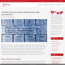 Quelles sont les sources d'information des journalistes ?
