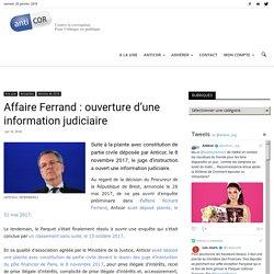 Affaire Ferrand : ouverture d'une information judiciaire