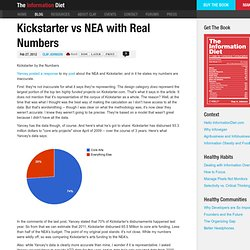 Kickstarter vs NEA with Real Numbers