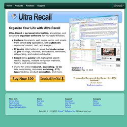 Ultra Recall - Personal information manager and knowledge organizer for Windows