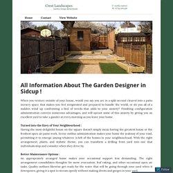 All Information About The Garden Designer in Sidcup ! – Crest Landscapes
