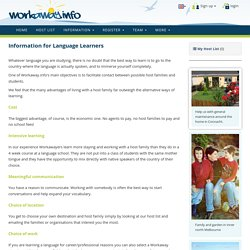 Information for language learners