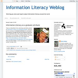 Information Literacy as a graduate attribute