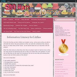 Information Literacy for Littlies