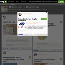 Information literacy – long list of resources | School Info Lit Champions