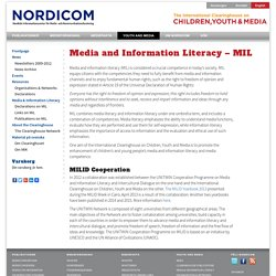 Media and Information Literacy – MIL