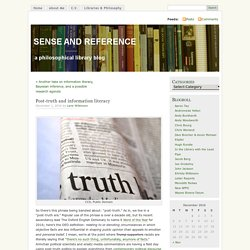 Post-truth and information literacy