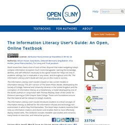 The Information Literacy User's Guide: An Open, Online Textbook - Open SUNY Textbooks OER Services