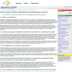 Information Sheet: Malathion and Mosquito Control