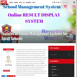Latest Features of School Information Management Systems for Small Schools