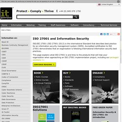 ISO 27001, ISO27001 Information Security Standard