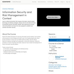 Information Security and Risk Management in Context