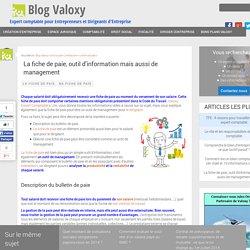 La fiche de paie, outil d'information mais aussi de management - Valoxy Expert Comptable Lille