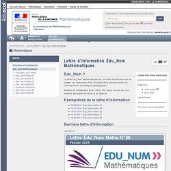 Lettre d'information Édu_Num Mathématiques — Maths