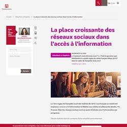 La place croissante des réseaux sociaux dans l'accès à l'information - Médiamétrie