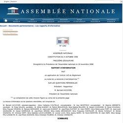 N°1262 - Rapport d'information de M. Bernard Accoyer fait au nom de la mission d'information sur les questions mémorielles